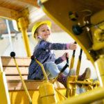 Spass auf den Baumaschinen