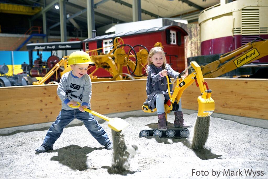Sandkasten im EBIANUM Kinderspielplatz